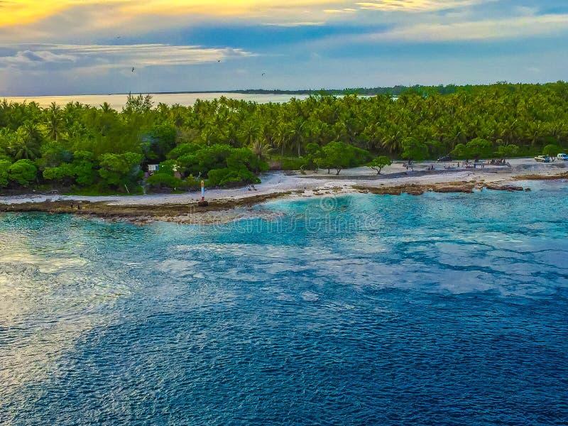 Παραλία της Ταϊτή στοκ εικόνα με δικαίωμα ελεύθερης χρήσης