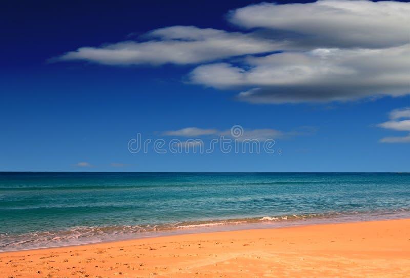 Παραλία της Shelly με τα πολύ μικρά κύματα στοκ εικόνες με δικαίωμα ελεύθερης χρήσης
