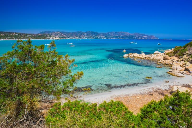 Παραλία του Πόρτο Giunco, Villasimius, Σαρδηνία, Ιταλία στοκ φωτογραφίες