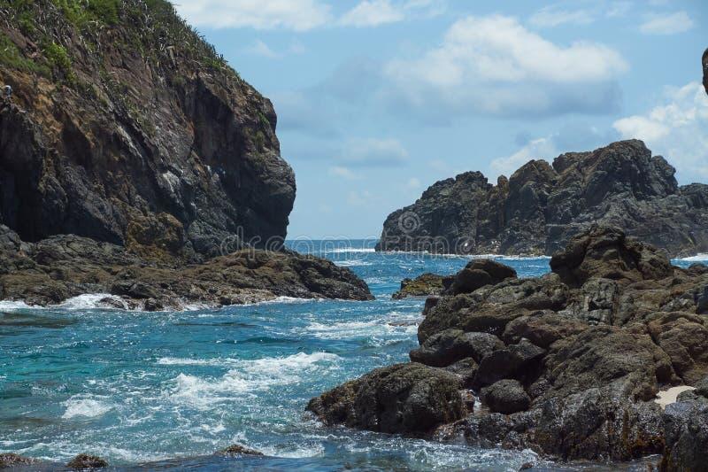 Παραλία των cocinas νησιών σε Punta Perula, Μεξικό στοκ εικόνα