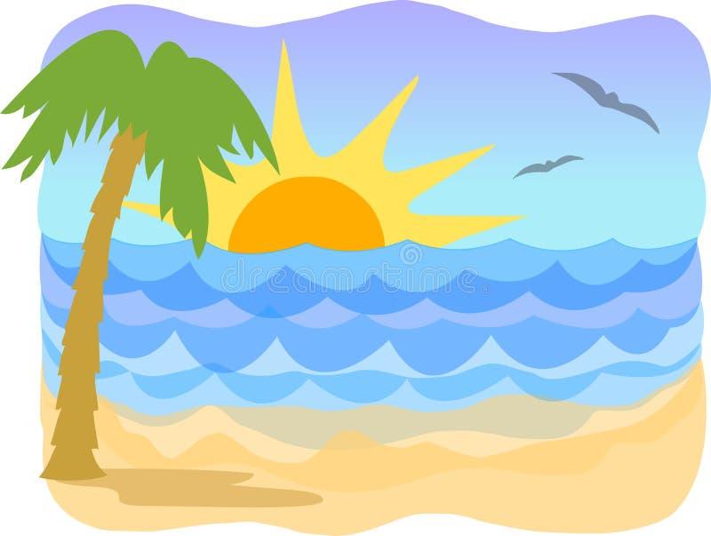 παραλία AI τροπική απεικόνιση αποθεμάτων
