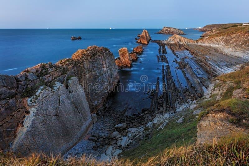 Παραλία Arnia, Cantabria, Ισπανία στοκ φωτογραφία με δικαίωμα ελεύθερης χρήσης
