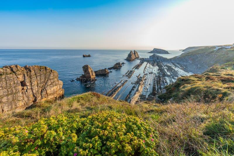 Παραλία Arnia, Cantabria, Ισπανία στοκ φωτογραφίες με δικαίωμα ελεύθερης χρήσης