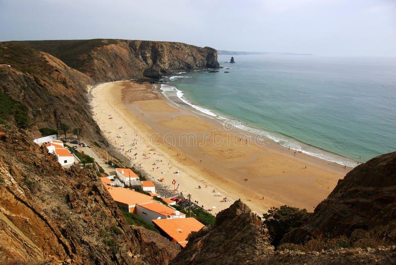 παραλία arrifana στοκ φωτογραφίες