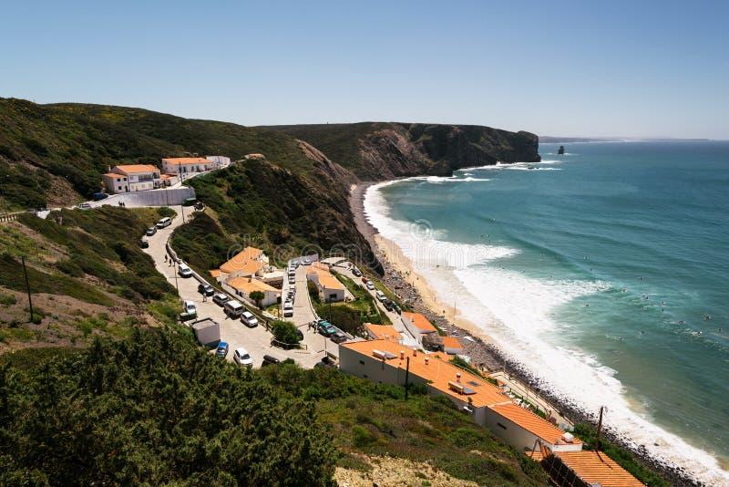 Παραλία Arrifana, Aljezur, Πορτογαλία στοκ εικόνες