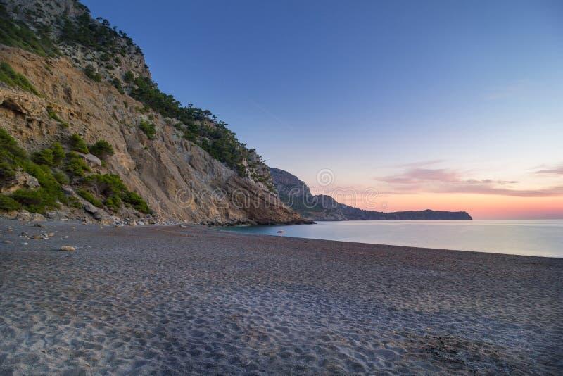 Παραλία Baix Coll κοντά σε Alcudia, Μαγιόρκα, Ισπανία στοκ εικόνες