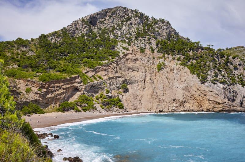 Παραλία Baix Coll στη Μαγιόρκα, Ισπανία στοκ εικόνες με δικαίωμα ελεύθερης χρήσης