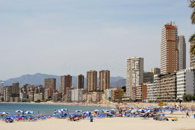 παραλία benidorm στοκ εικόνες με δικαίωμα ελεύθερης χρήσης