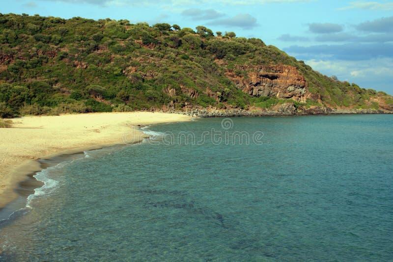παραλία cala cartoe Σαρδηνία στοκ εικόνες