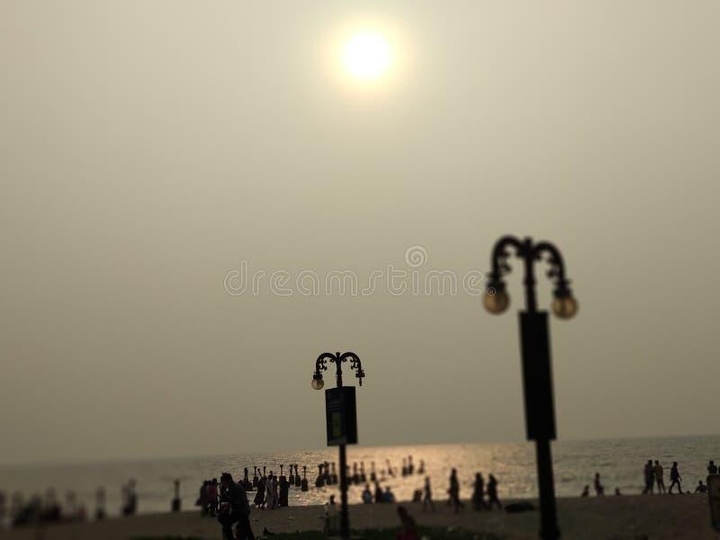 Παραλία Calicut στοκ φωτογραφία