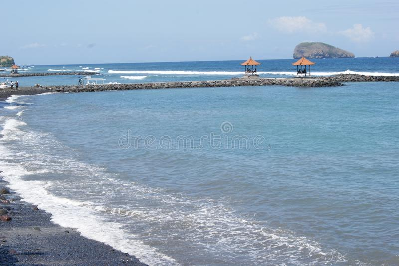 Παραλία Candidasa στο Μπαλί, Ινδονησία στοκ φωτογραφία με δικαίωμα ελεύθερης χρήσης
