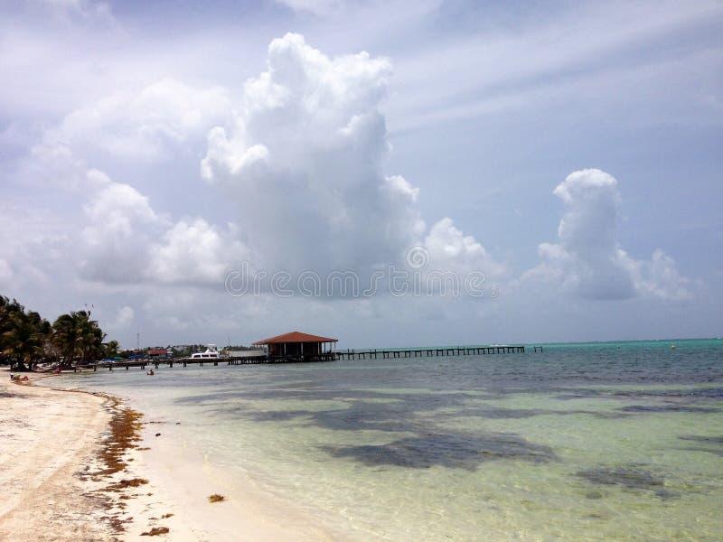Παραλία Caye Ambergris στοκ εικόνα με δικαίωμα ελεύθερης χρήσης