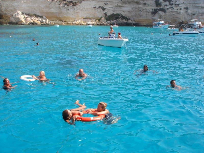 Παραλία Conigli dei Isola σε Lampedusa στοκ φωτογραφίες με δικαίωμα ελεύθερης χρήσης