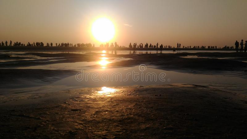 Παραλία COX Bazar, Μπανγκλαντές στοκ φωτογραφία με δικαίωμα ελεύθερης χρήσης