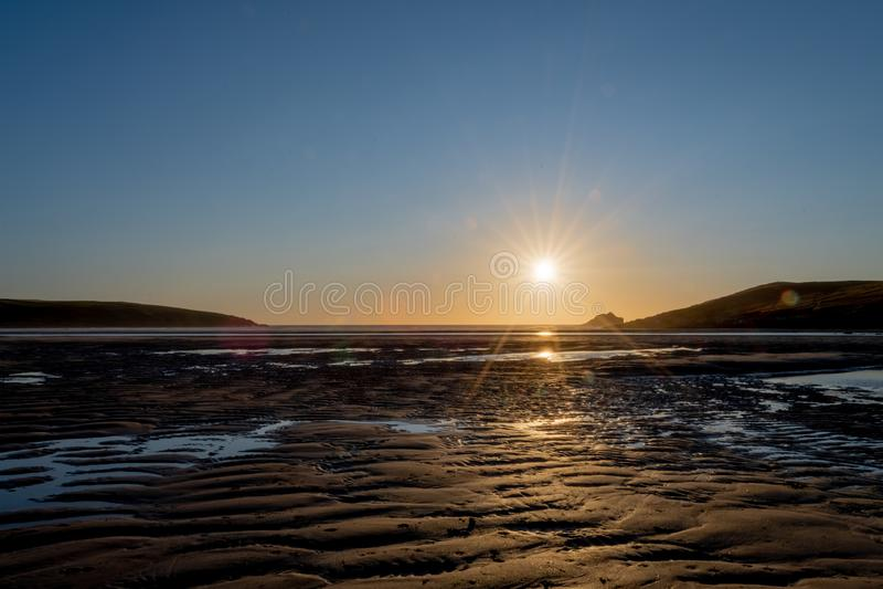 Παραλία Crantock στην Κορνουάλλη στοκ εικόνα