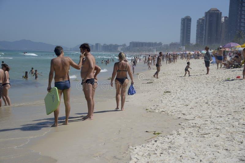 Παραλία DA Tijuca Barra στοκ εικόνα με δικαίωμα ελεύθερης χρήσης