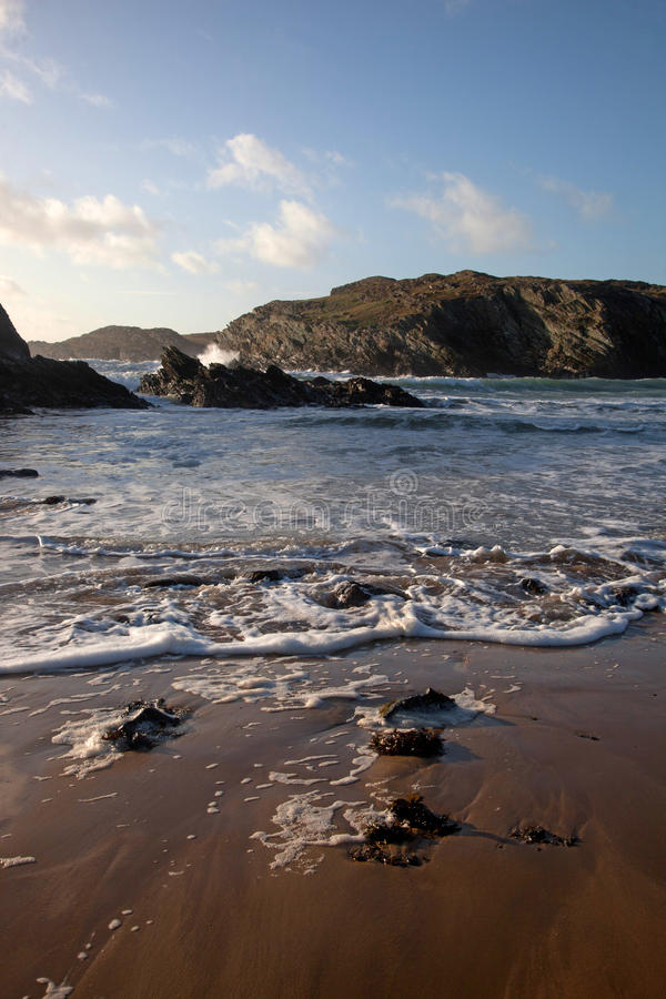 Download παραλία dafarch porth στοκ εικόνες. εικόνα από ιρλανδικά - 22788024