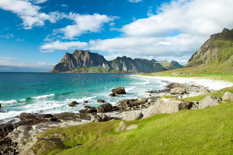 Παραλία Eggum στη Νορβηγία στοκ φωτογραφίες