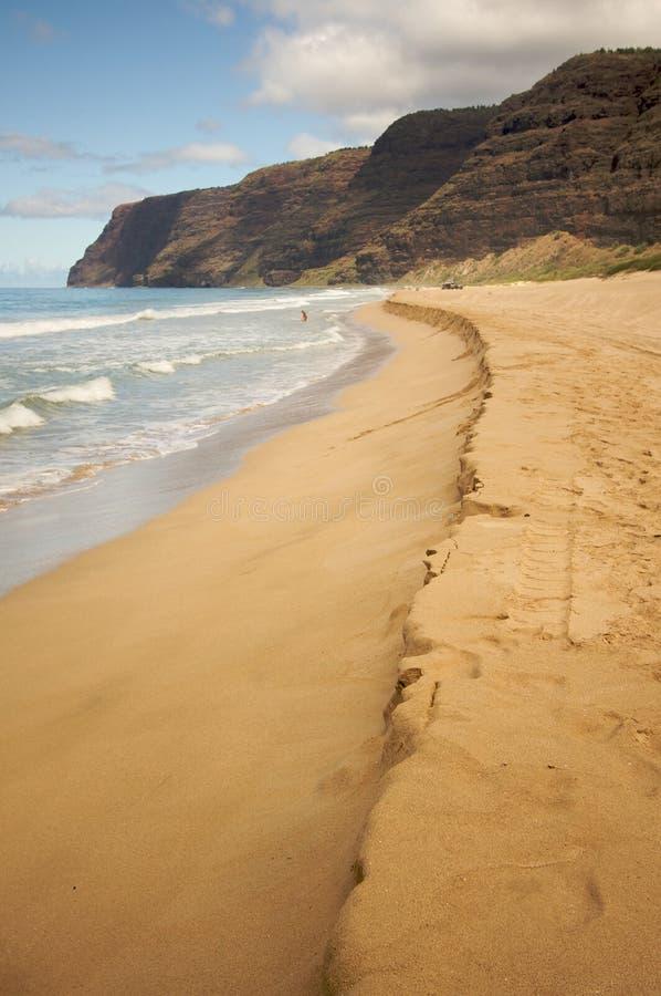 παραλία kauai polihale στοκ εικόνες