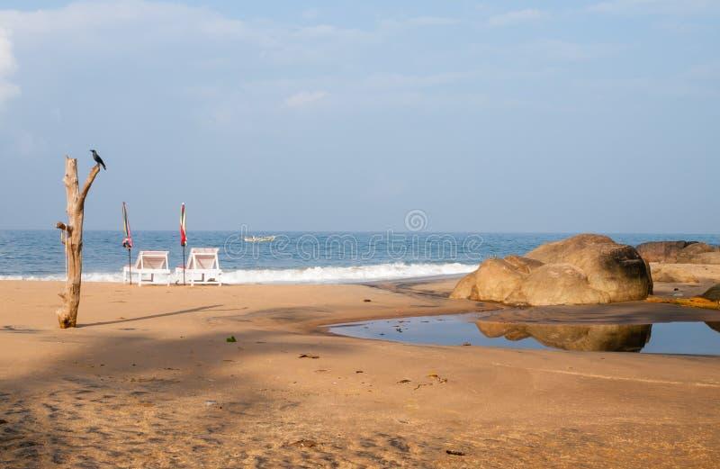 Παραλία Kovalam το πρωί στοκ φωτογραφία με δικαίωμα ελεύθερης χρήσης