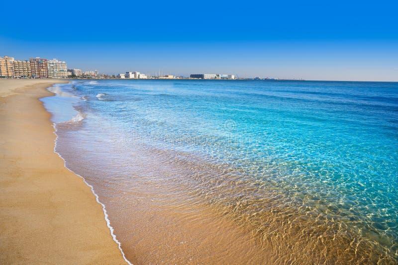 Παραλία Lisa Αλικάντε Gran Playa pola Santa στοκ εικόνα με δικαίωμα ελεύθερης χρήσης