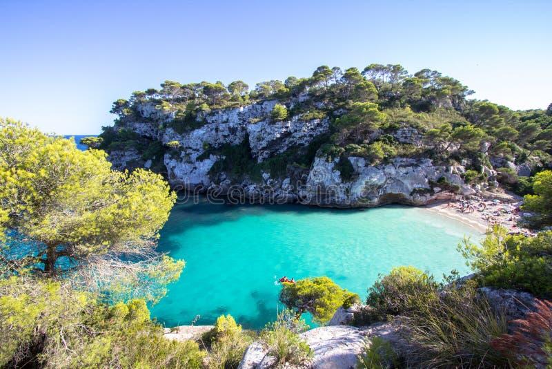 Παραλία Macarelleta, Menorca, Ισπανία στοκ εικόνα με δικαίωμα ελεύθερης χρήσης