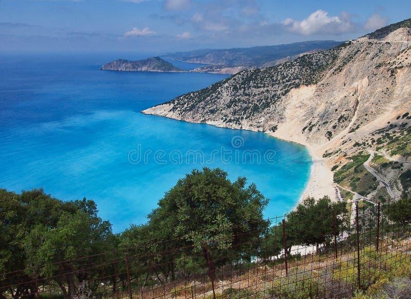 Παραλία Myrtos, ελληνικό νησί Kefalonia, Ελλάδα στοκ φωτογραφίες με δικαίωμα ελεύθερης χρήσης