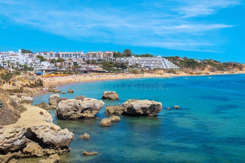 παραλία oura Albufeira, Πορτογαλία στοκ φωτογραφία με δικαίωμα ελεύθερης χρήσης