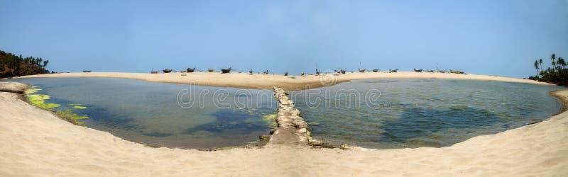 Παραλία Panaroma Khawale λιμνών πεταλούδων στοκ εικόνα