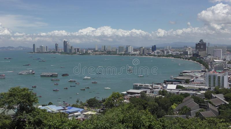 Παραλία Rd Pattaya Talay Pattaya Ταϊλάνδη στοκ εικόνες