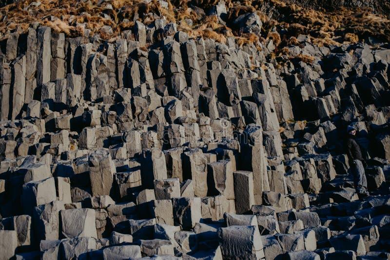 Παραλία Reinsfjara, Ισλανδία στοκ εικόνες με δικαίωμα ελεύθερης χρήσης