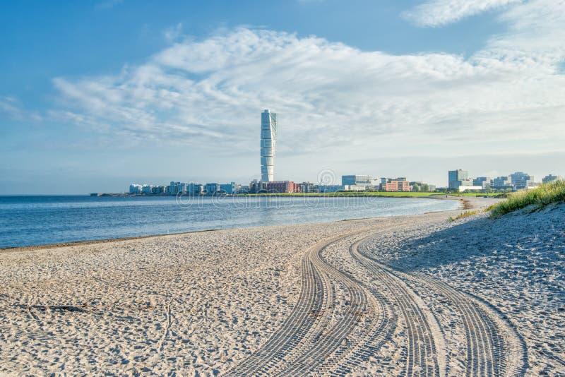Παραλία Ribersborg, Malmö στοκ εικόνες