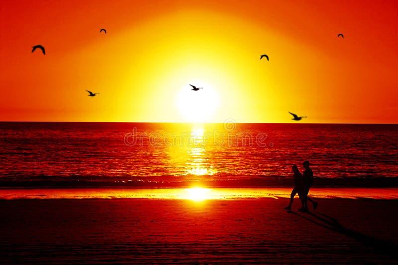 παραλία susnet στοκ φωτογραφία με δικαίωμα ελεύθερης χρήσης
