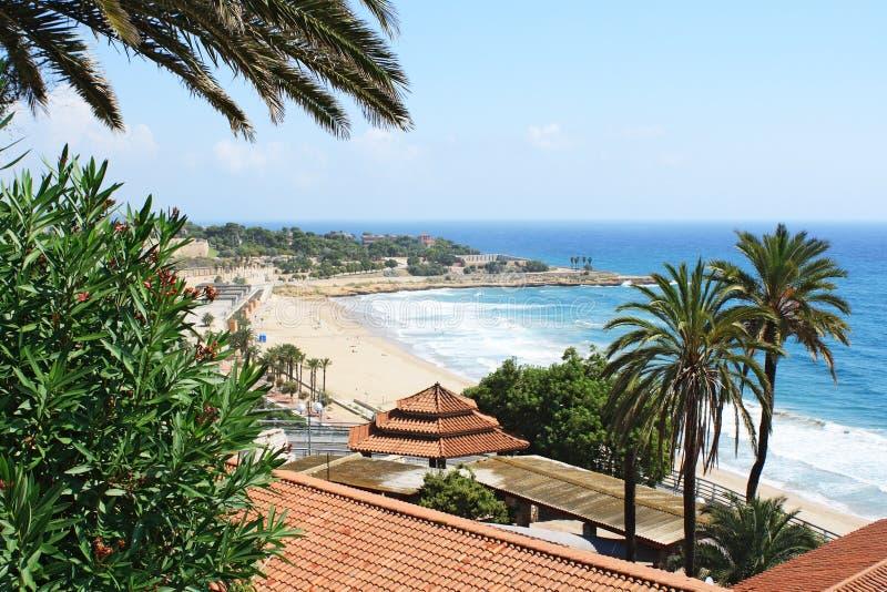 παραλία tarragona στοκ εικόνες με δικαίωμα ελεύθερης χρήσης