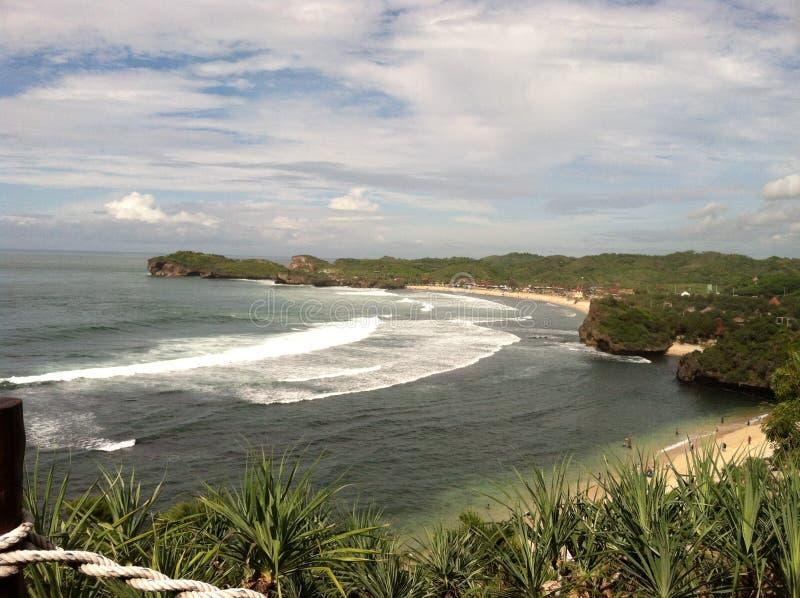 Παραλία Wonosari Ινδονησία Sadranan στοκ φωτογραφία με δικαίωμα ελεύθερης χρήσης