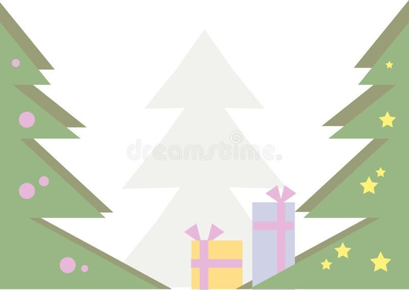 Παραμονή Χριστουγέννων αν&al απεικόνιση αποθεμάτων