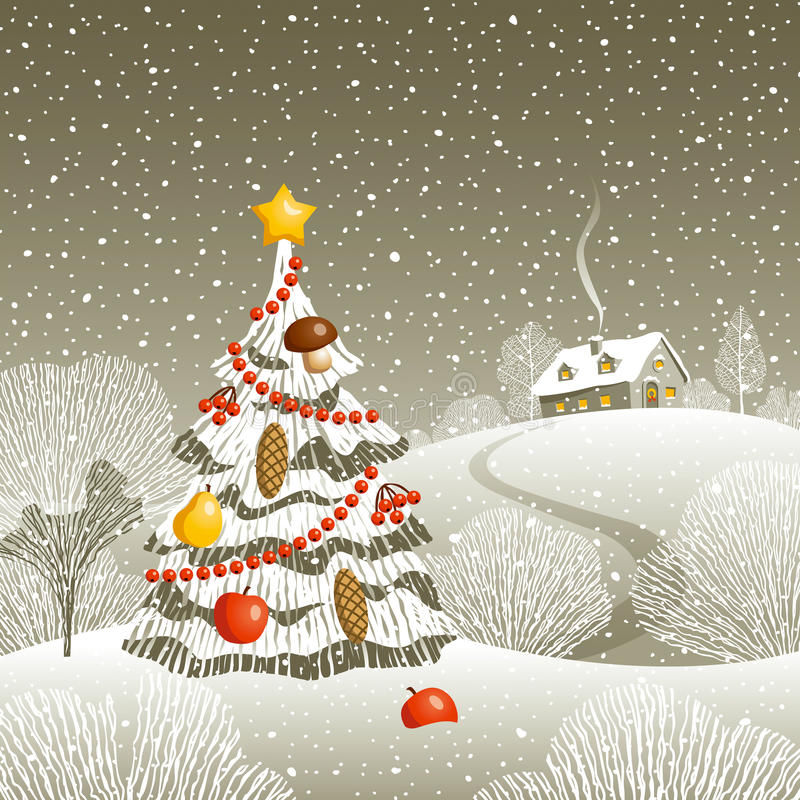 Παραμονή Χριστουγέννων απεικόνιση αποθεμάτων