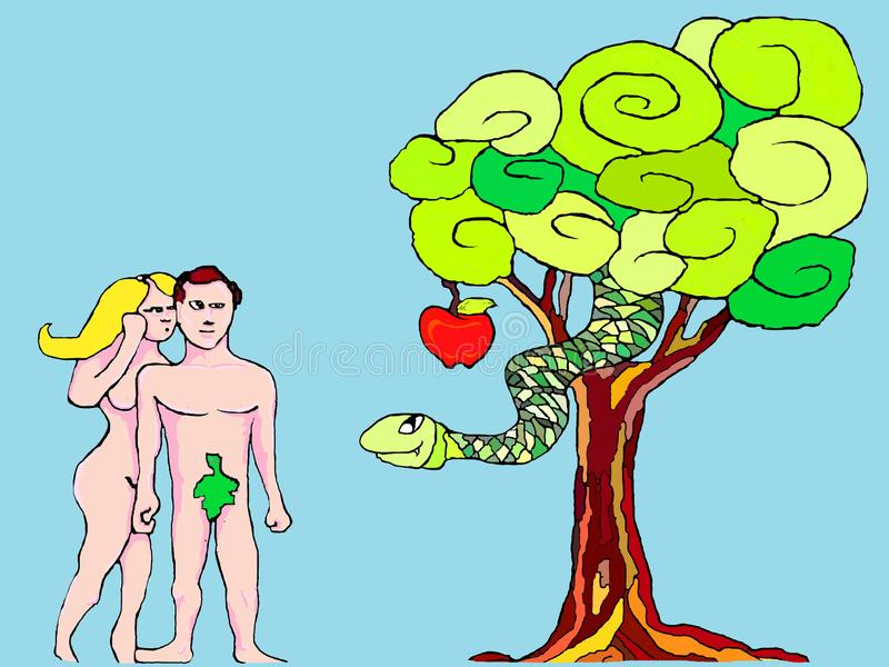 παραμονή Adam ελεύθερη απεικόνιση δικαιώματος