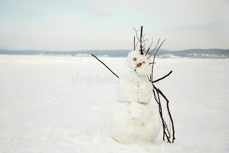 Παραμορφωμένος άσχημος χιονάνθρωπος στοκ εικόνες με δικαίωμα ελεύθερης χρήσης