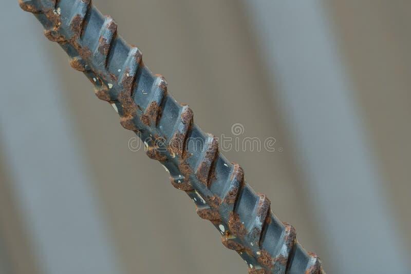 παραμορφωμένος ράβδος χάλυβας στοκ φωτογραφίες