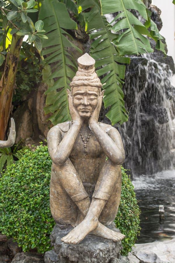 Παραμόρφωση σε Wat Pho στη Μπανγκόκ Ταϊλάνδη στοκ φωτογραφία