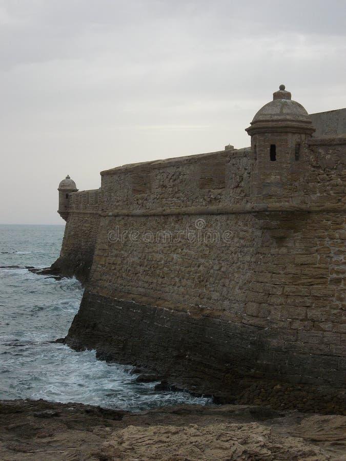 Παρατηρητήριο στα fortess CÃ ¡ diz, Ισπανία στοκ φωτογραφία με δικαίωμα ελεύθερης χρήσης