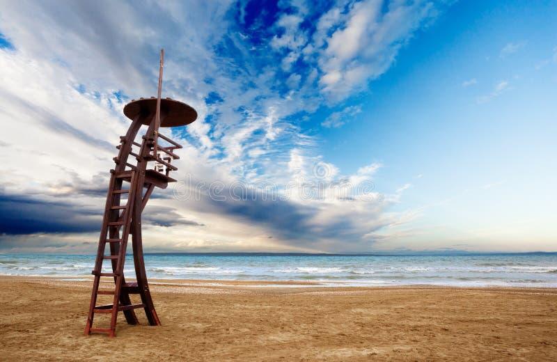 Παρατηρητήριο στην παραλία στοκ φωτογραφία