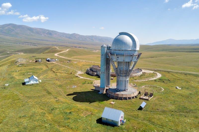 Παρατηρητήριο Assy στο νοτιοανατολικό σημείο ληφθε'ν το Καζακστάν τον Αύγουστο του 2018 τ στοκ εικόνες