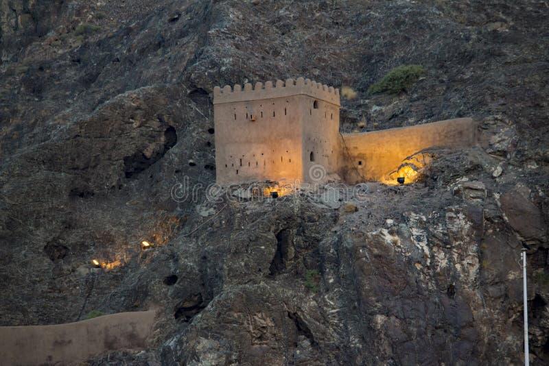 Παρατηρητήριο Muscat στο παλάτι σουλτάνων στοκ φωτογραφίες