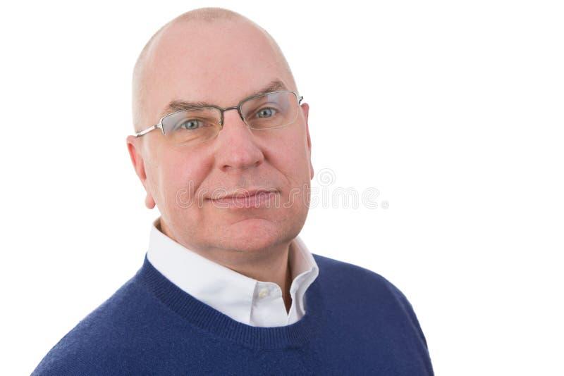 Παρατηρητικός μέσης ηλικίας επιχειρηματίας στοκ φωτογραφία