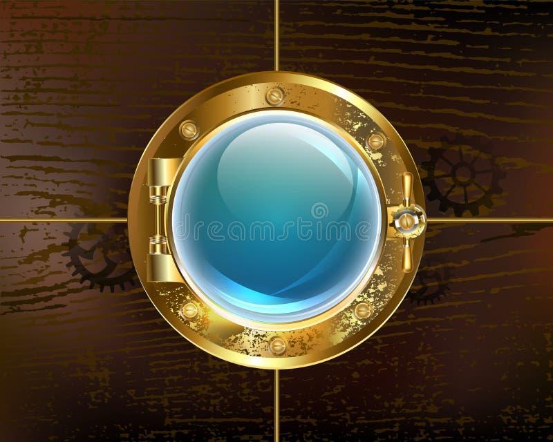 Παραφωτίδα στο καφετί υπόβαθρο Steampunk διανυσματική απεικόνιση