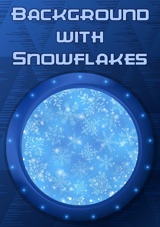 Παραφωτίδα πλαισίων με Snowflakes ελεύθερη απεικόνιση δικαιώματος