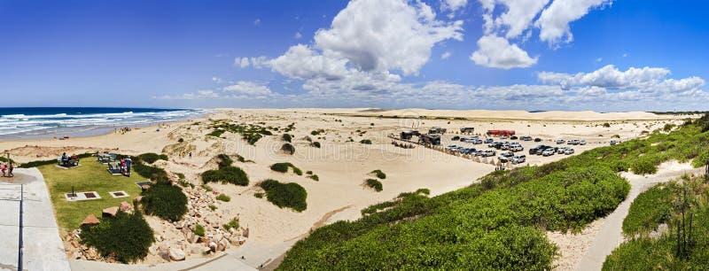 Παραλία 2 αμμόλοφοι 6 Birubi θάλασσας πανόραμα στοκ φωτογραφία με δικαίωμα ελεύθερης χρήσης