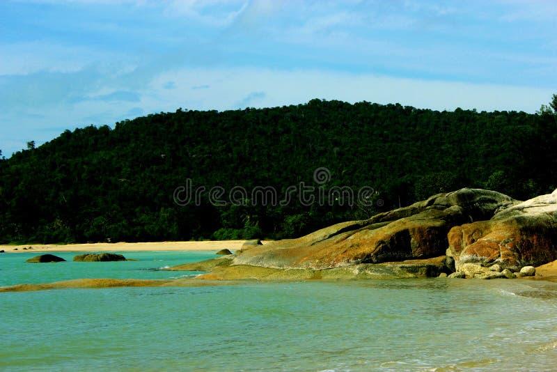 Παραλία απογεύματος στοκ φωτογραφίες με δικαίωμα ελεύθερης χρήσης
